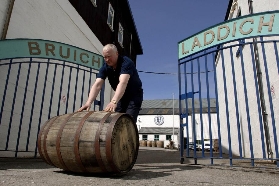 Rolling out the barrel at Bruichladdich distillery
