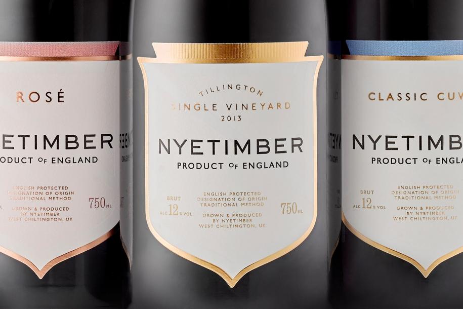 A line-up of Nyetimber sparkling wines