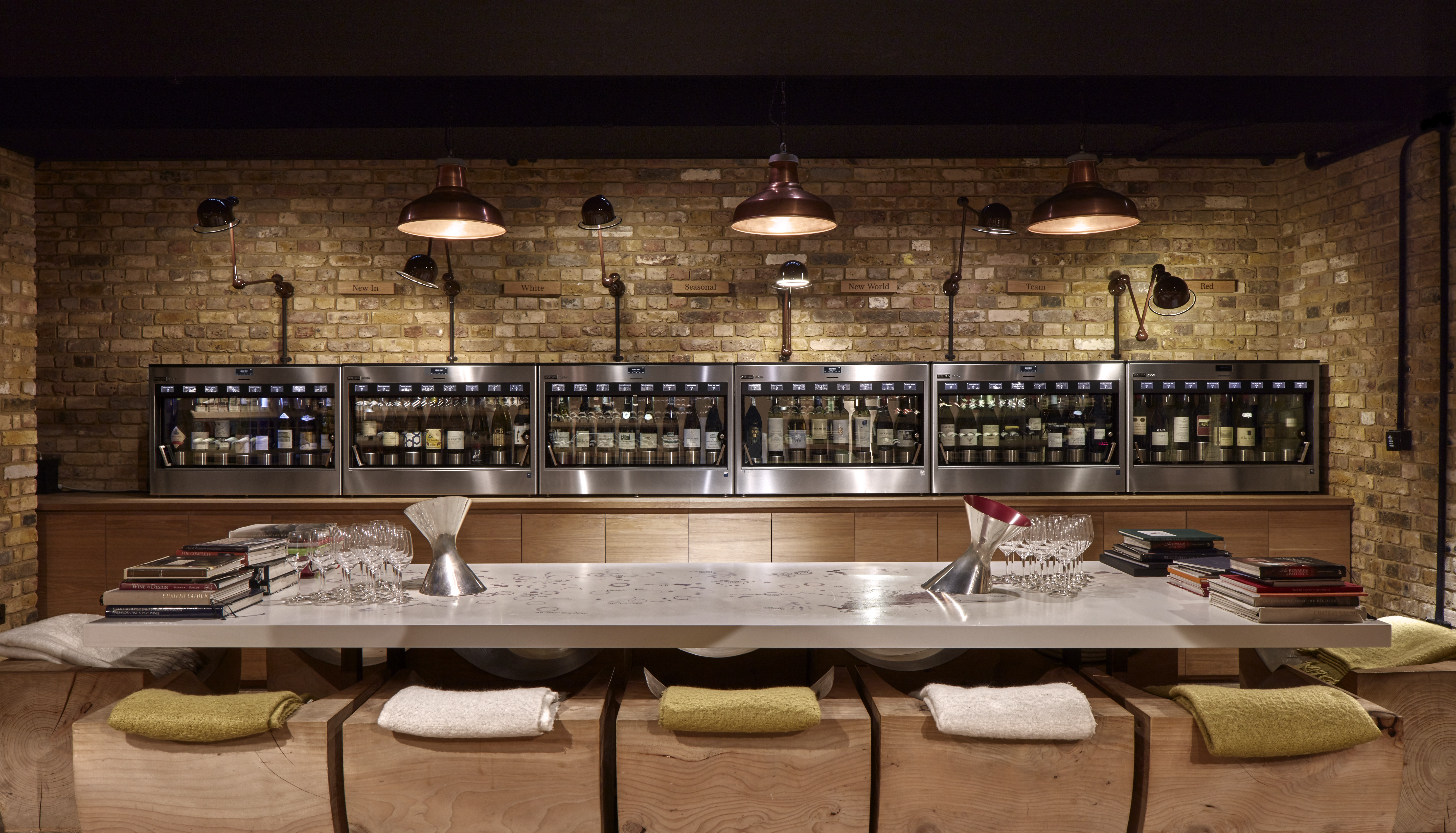 Enomatic tasting machines at Hedonism Wines